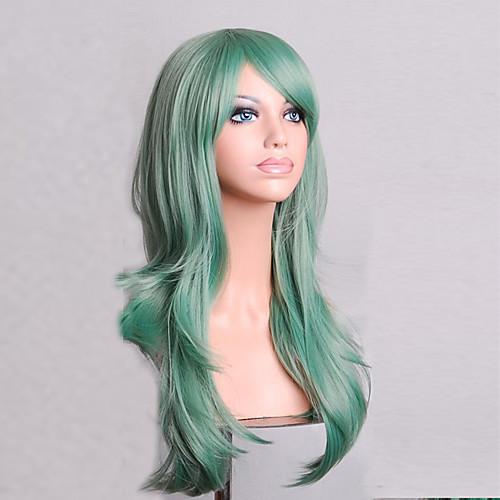 fashion color cartoon colored wigs special masquerade 70 cm mint green wig 2017 1582 - Colored Wig